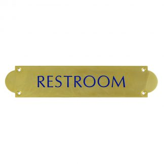 Ornate rectangle engraved brass plaque