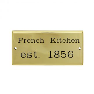 Rectangle brass plaque