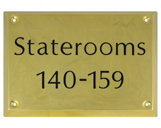 Square engraved brass plaque