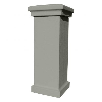 Stucco column unpainted